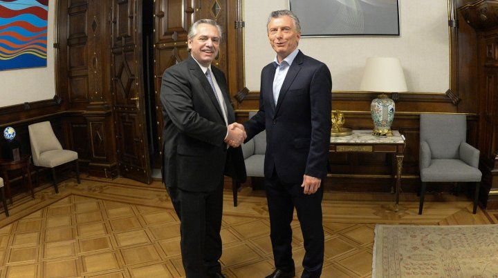 Presidentes. Macri y Alberto Fernández se vieron por última vez el día después de las elecciones.