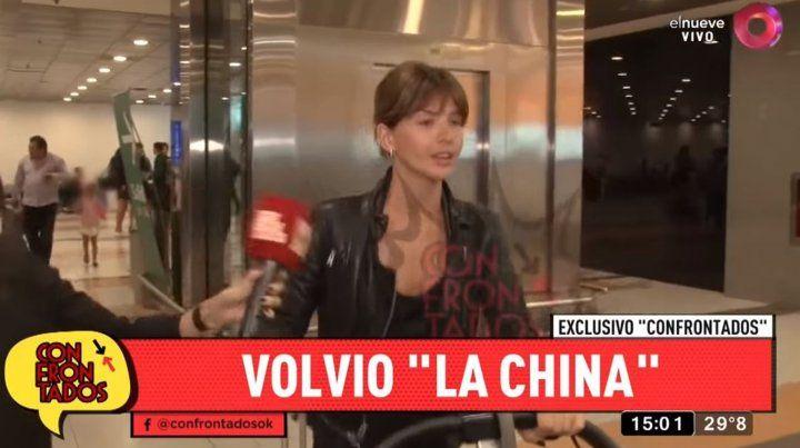 Qué dijo la China Suárez cuando llegó al país