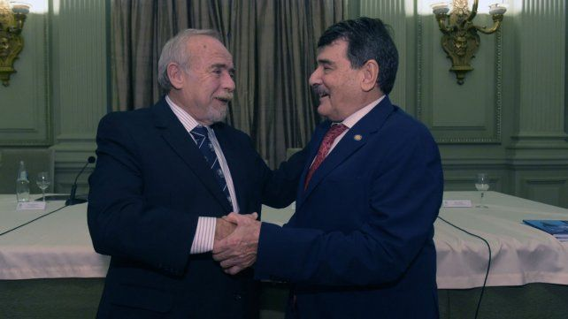 Daniel Nasini y Alberto Padoán al término de la asamblea.