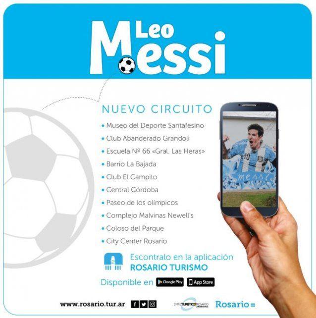 Messi ya tiene su propio circuito turístico en Rosario