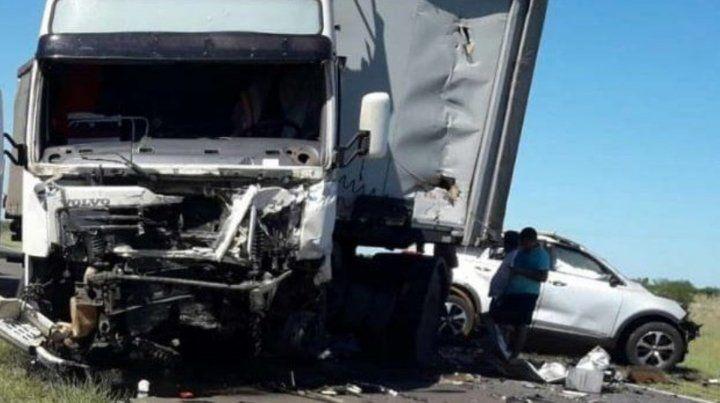 Cuatro integrantes de una familia murieron en un choque frontal en Paso de los Libres