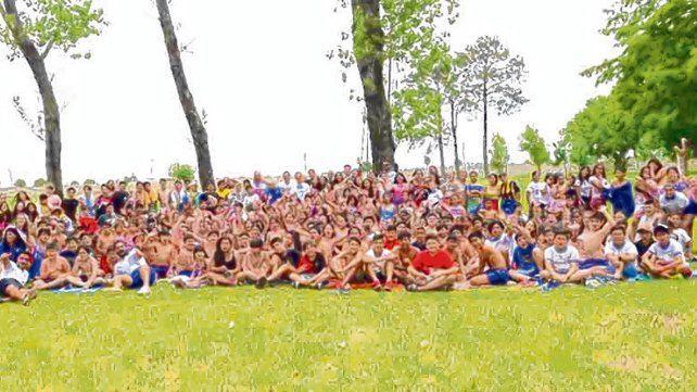 En familia. Los presentes rescataron la unidad y los lazos que unen al sindicato con los nadadores.