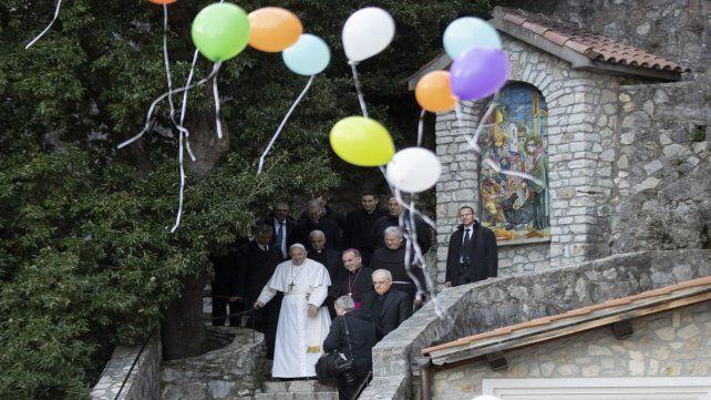 Francisco. El Papa presentó ayer una Carta Apostólica en Greccio.