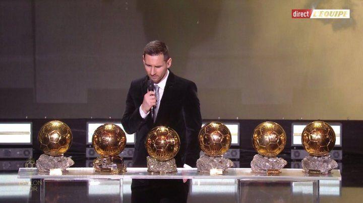 Messi sigue haciendo historia: ganó el sexto Balón de Oro