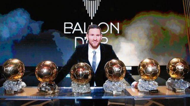 Seis balones en diez años para Messi
