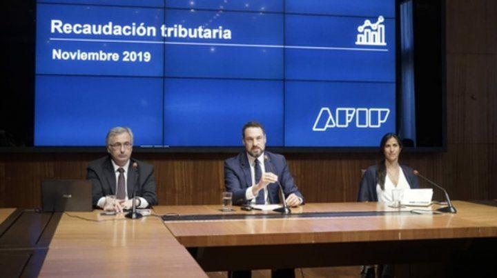 final. Cuccioli dio el último anuncio de recaudación del gobierno de Macri.