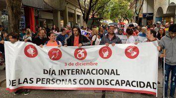 Personas con discapacidad reclaman por sus derechos