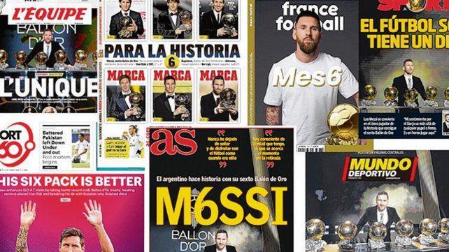 El pibe de oro. Messi acaparó las portadas de los principales diarios de Europa.