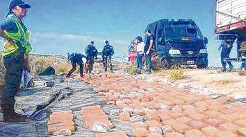general roca. En Río Negro, en 2017 la policía interceptó un camión con 493 kilos de marihuana.