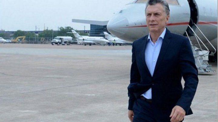 A pocos días de dejar su cargo como presidente Mauricio Macri aterrizó en Rosario y se dirigió rumbo a Timbúes