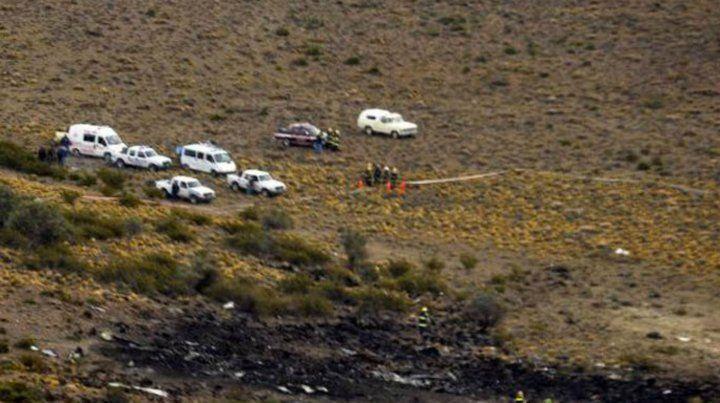 El lugar donde cayó el avión