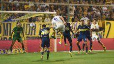 El 26/11/2017. Ruben marcó de cabeza el gol del triunfo por 1 a 0.