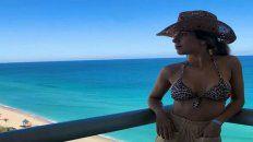 Laurita Fernández se tomó unas fotos en Miami.