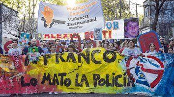 reclamos. Para los padres de Franco y organizaciones sociales nunca hubo dudas de la participación policial.