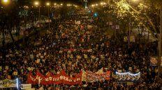 Movilización. Panorámica de los miles de manifestantes concentrados en el centro de Madrid.