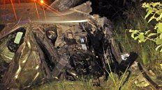 Dos heridos graves tras el vuelco de un auto en Andino
