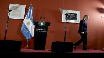 El presidente realizó su despedida por Cadena Nacional.