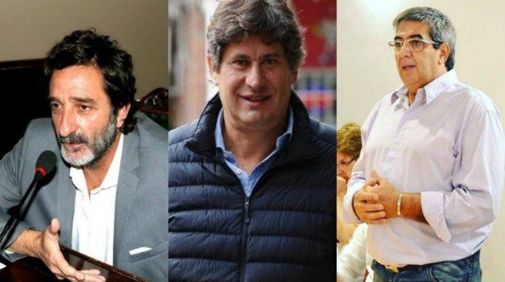 Intendentes. Rolvider Santacroce (Funes); Andrés Golosetti (Casilda); Miguel Vázquez (Carcarañá).