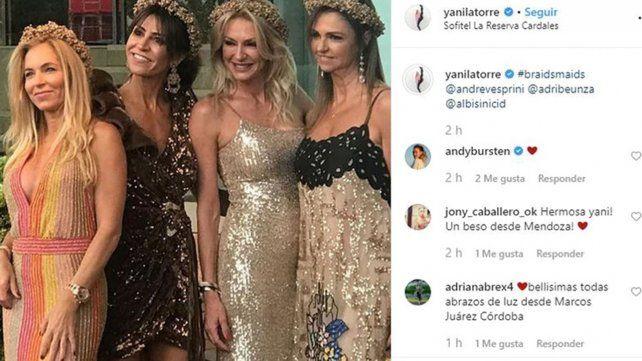 Yanina y Diego Latorre fueron juntos a un casamiento tras confirmar su separación
