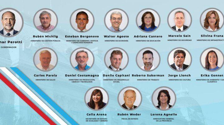 Uno por uno, los ministros que fueron confirmados para integrar el gabinete de Perotti
