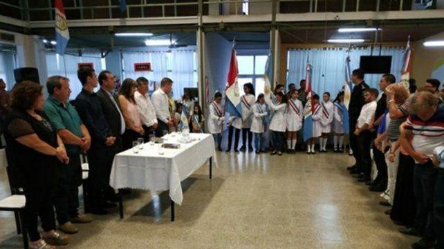acto. Ayer asumieron las nuevas autoridades de la comuna con el reelecto presidente Raúl Ballejos.
