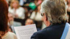 Durante 60 minutos Alberto Fernández habló en el Congreso.
