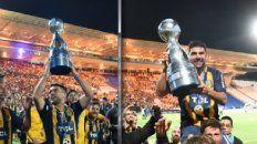 Momento histórico. Caruzzo y Ortigoza fueron determinantes para que Central conquistara el año pasado la Copa Argentina.