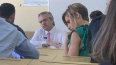 Fernández fue a la Facultad de Derecho a tomar examen