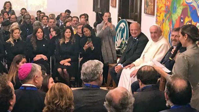Fabiola Yáñez se reunió con el Papa y la esposa de Bolsonaro