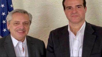 Claver y Fernández en México, cuando visitó López Obrador antes de asumir la Presidencia