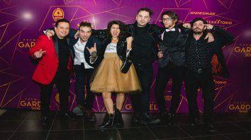 En los Gardel. El grupo estuvo presente en mayo en los premios a la música, nominados por su último disco.