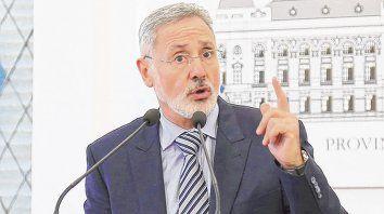 Marcelo Sain. El ministro de Seguridad marcó los lineamientos de su gestión en una rueda de prensa.
