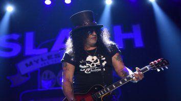 Slash. El mítico guitarrista de los Guns N Roses actuó en Metropolitano.
