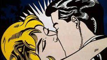 De la serie El beso, de Roy Lichtenstein (1923-97).