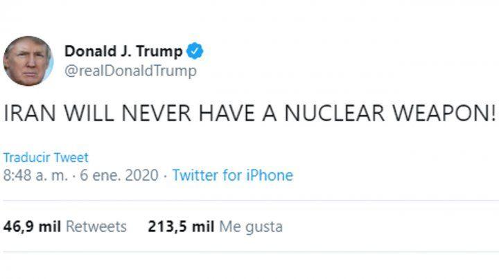 Irán nunca tendrá un arma nuclear!
