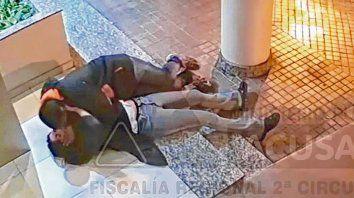 El video. El agresor quedó captado cuando abusó de la víctima, que estaba semiinconsciente.