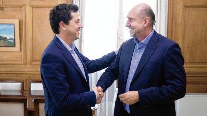 De Pedro (ministro del Interior) recibió a Perotti en su despacho.