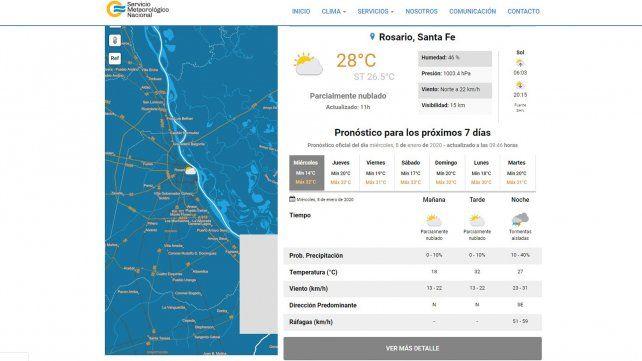 Rige un alerta para Rosario por tormentas fuertes
