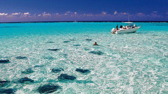 Una maravilla. Piletas naturales entre barreras coralinas dan el marco justo para vacacionar en un sitio a medida de los viajeros más exigentes.