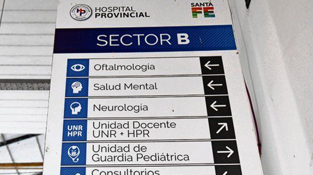 Hospital Provincial. Estará afectado por la medida de protesta.