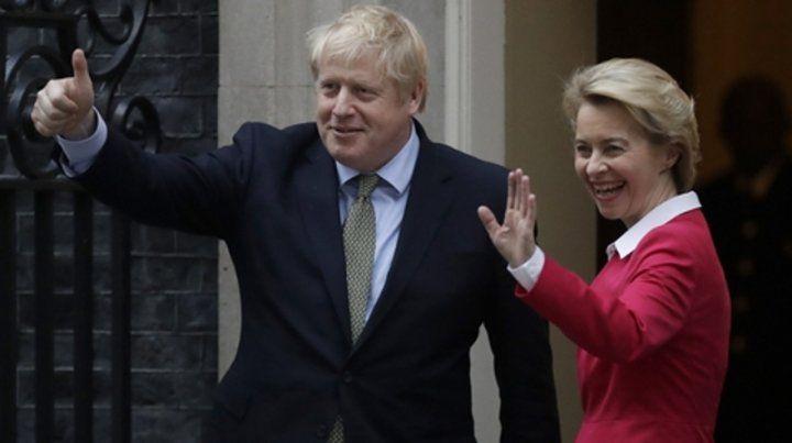 Johnson recibió en Downing Street a la presidenta de la Comisión Europea