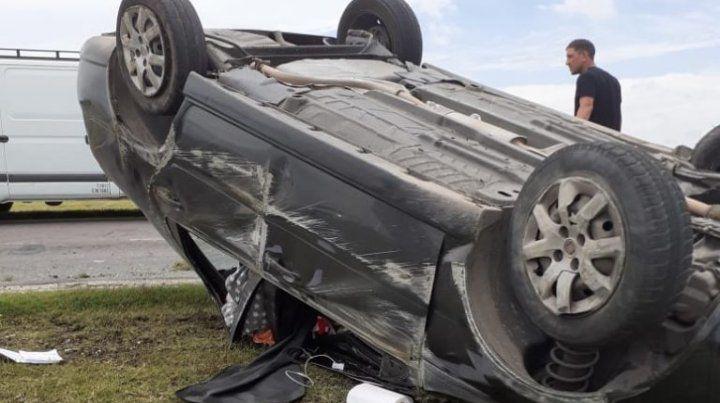 Cuatro heridos en otro impactante choque en la autopista a Córdoba
