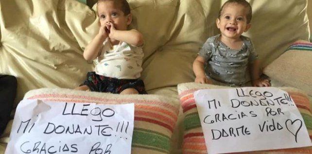Los hermanos Milo y Jano recibirán el traplante luego de 5 meses de espera.