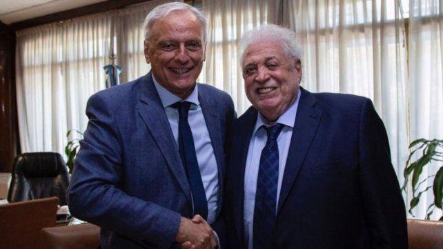 Acuerdo. El ministro Carlos Parola junto a su par de Salud de la Nación
