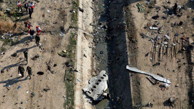 Irán limpió la escenadel avión