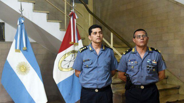 Menos de un mes. Los subdirectores Claudio Romano y Danilo Villán al asumir sus cargos el 19 de diciembre.