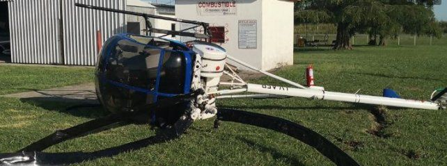 Cayó un helicóptero durante un vuelo de práctica en Casilda
