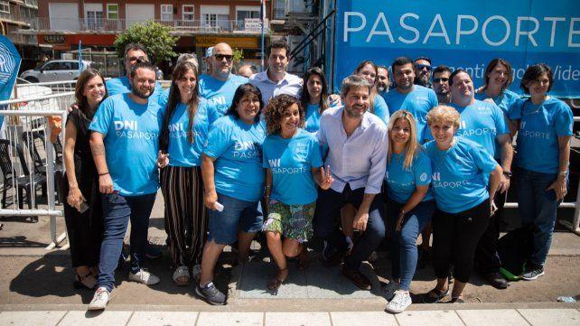 La Feliz. De Pedro y Lammens compartieron actividad en Mar del Plata.