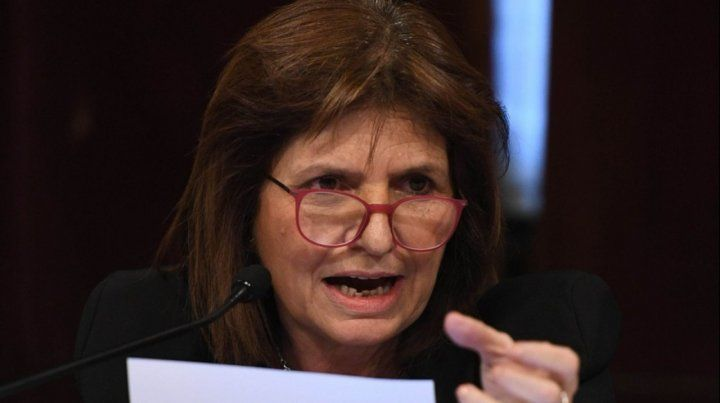 Bullrich. La ex titular de Seguridad cargó contra la Casa Rosada.