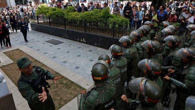 Golpe parlamentario. La sede del Poder Legislativo venezolano tal como se veía hace una semana.